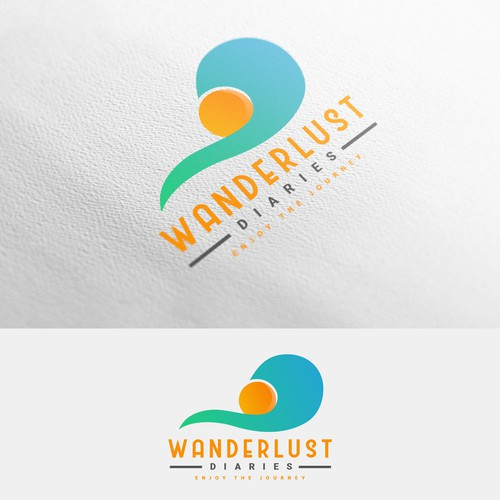 Abstract logo concept for travelling.