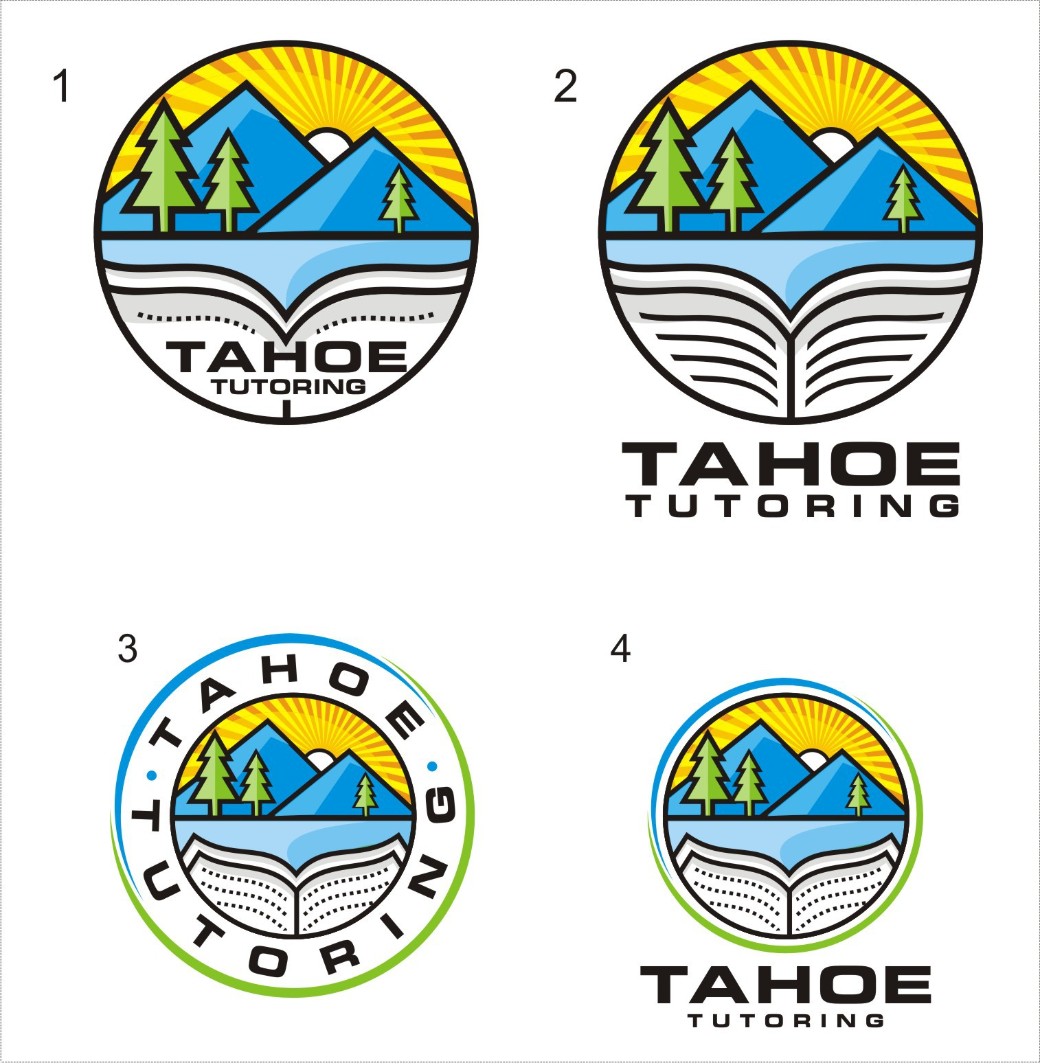 Create a catchy logo for Tahoe Tutoring - a new learning center by the lake & in the mountains