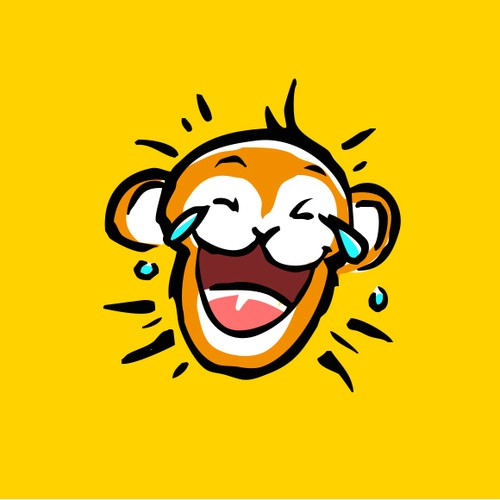 Monkey Illustration for a Logo