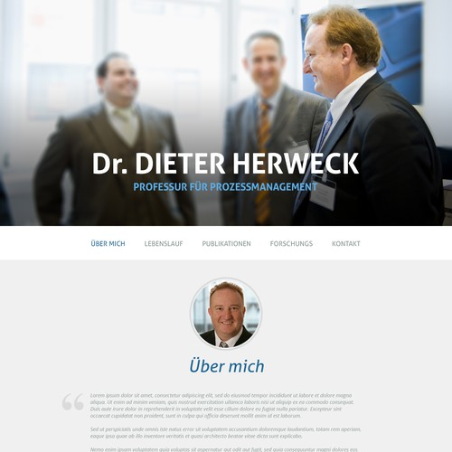 WordPress Theme for a Researcher
