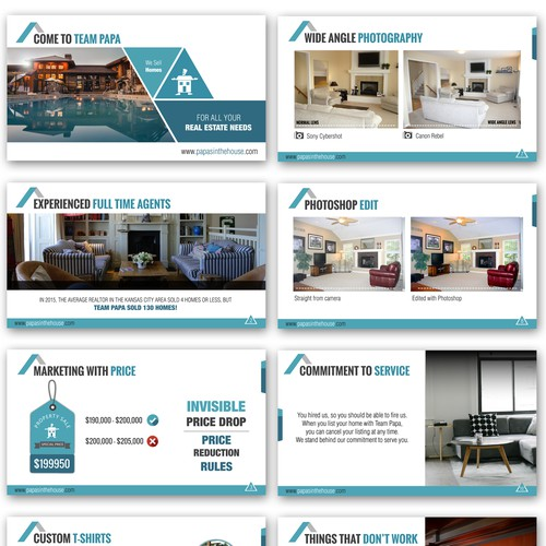 Powerpoint Design for a Real Estate Agency