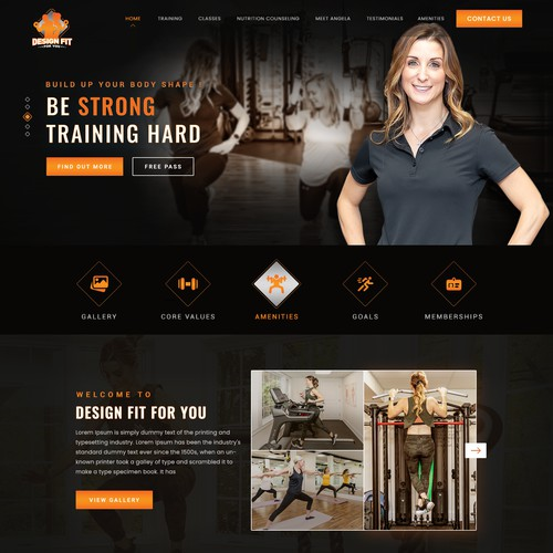 Physical Fitness Instructor Website Design