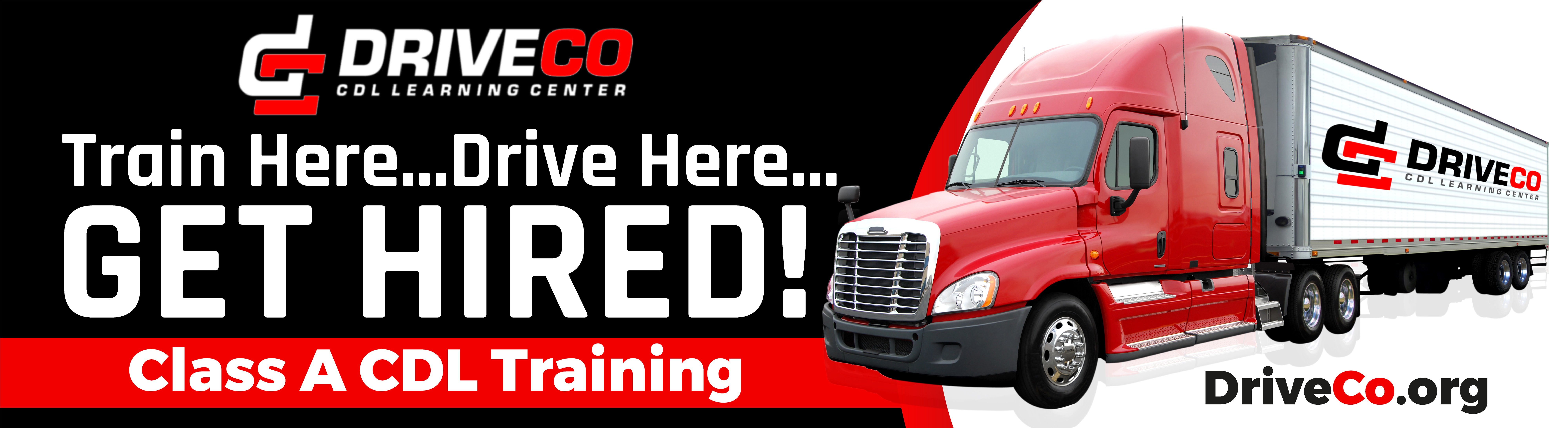 Design a billboard for Truck Driver Training School