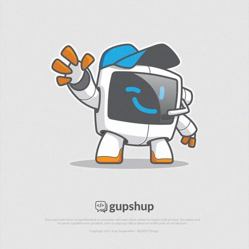 Mascot Concept 4 Gupshup
