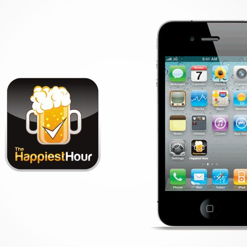 Create the next logo for The Happiest Hour