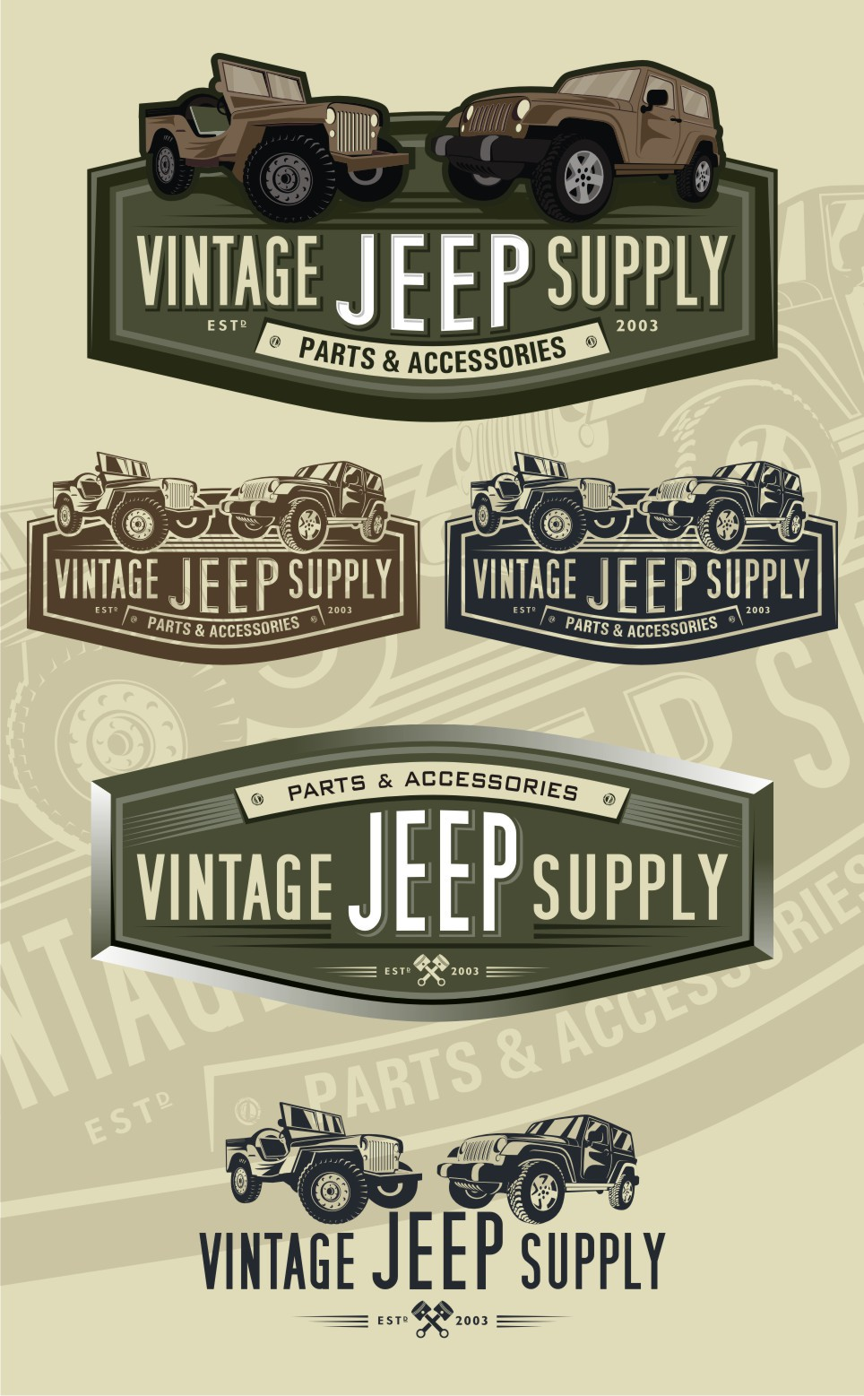 Vintage Jeep Supply needs a new logo