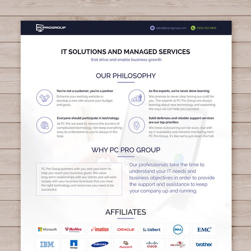 IT Company - Creative line card template