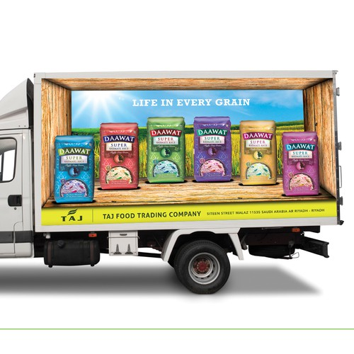 Rice Brands truck branding.