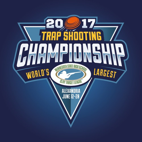 Badge logo for shooting tournament