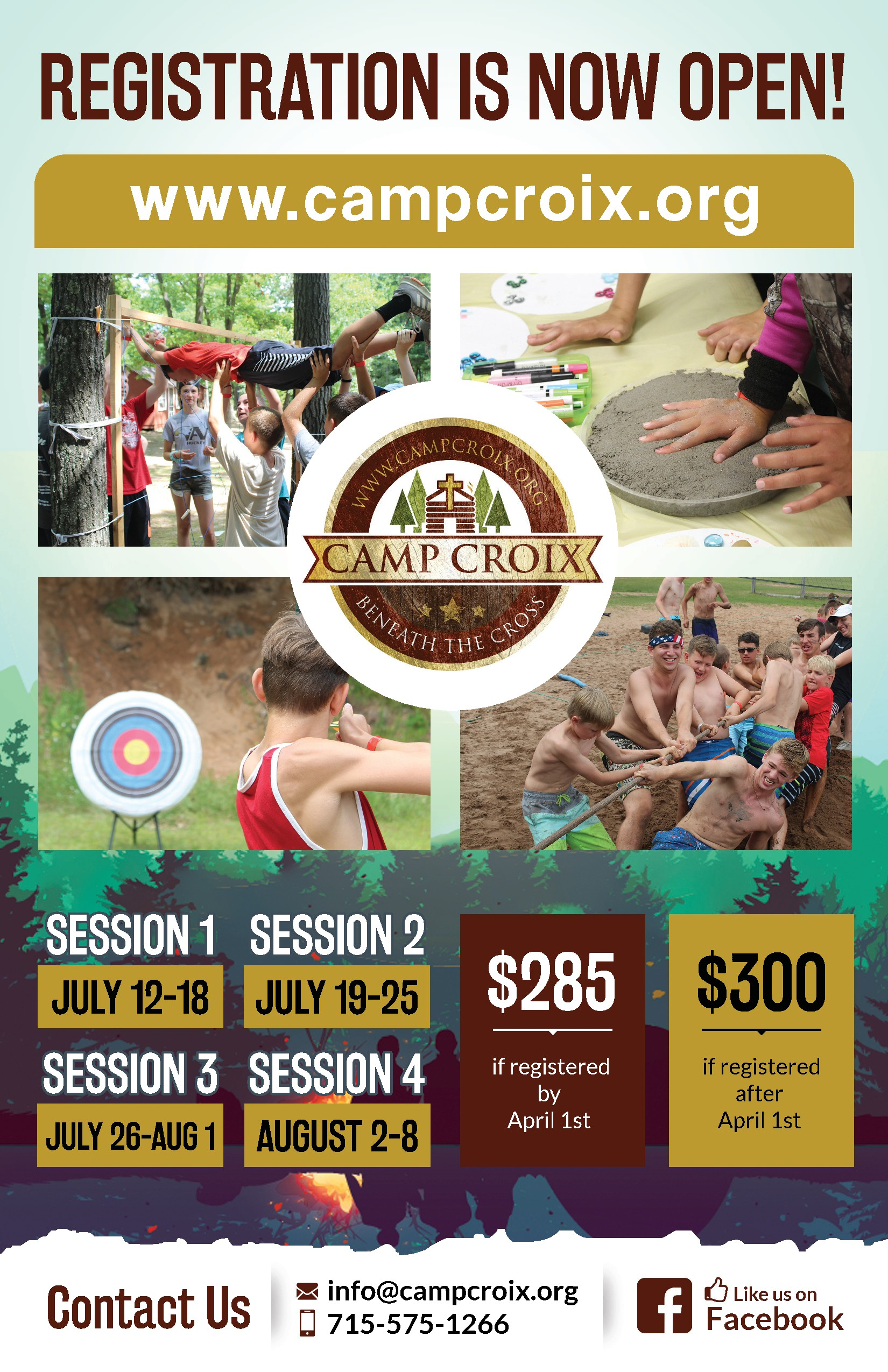 Camp Croix Needs A Eye Catching Poster To Announce a Weeklong Camp