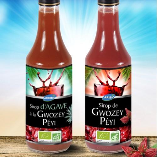 Label for Syrup bottles