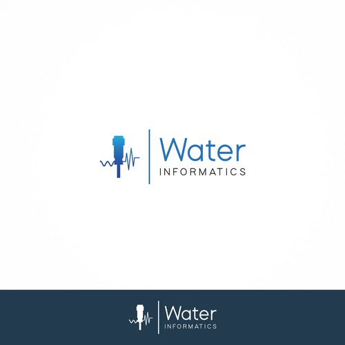 Sleek Logo for Water Informatics