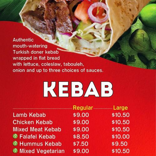 Redesign Cafe Anatolia Restaurant Menu Board & Promotional Sign