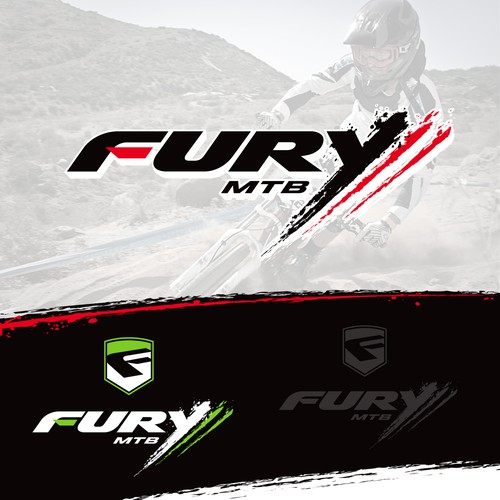 Fury MTB logo design