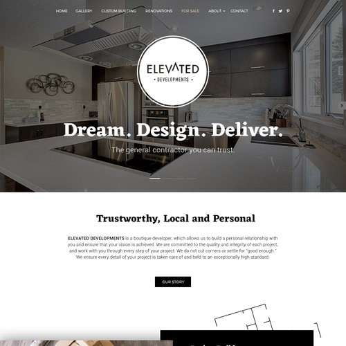 Black & white theme for construction company