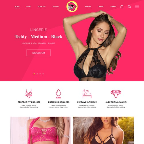 Lingerie Site Web Design