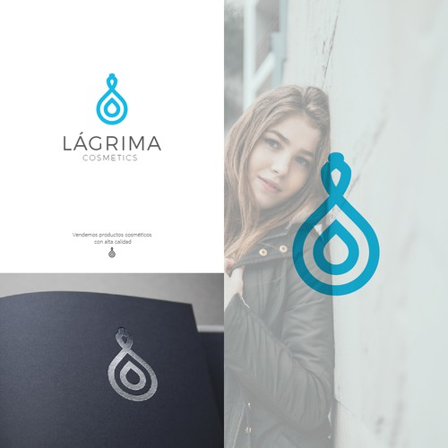 Logo concept for cosmetics products.