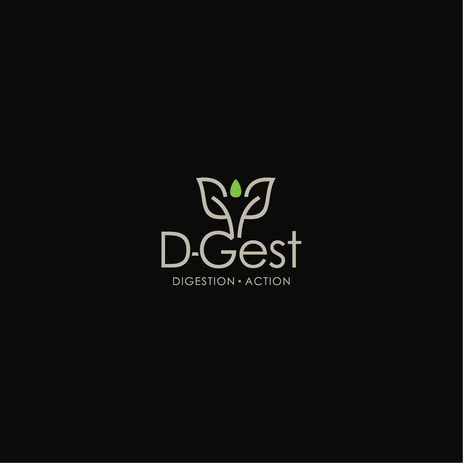 Create an elegant logo for a vegan, organic, herbal supplement line for Digestive Health
