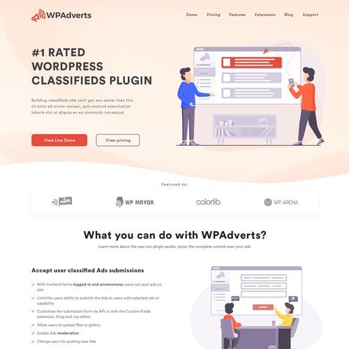 Custom design for a saas website