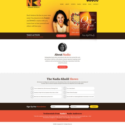 Nadia Khalil - Landing Page Design