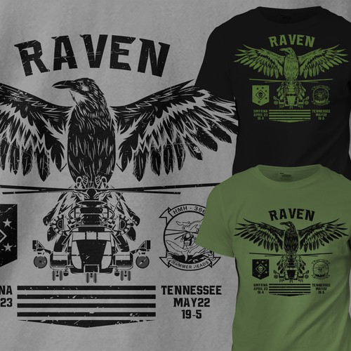 Raven Military T-shirt