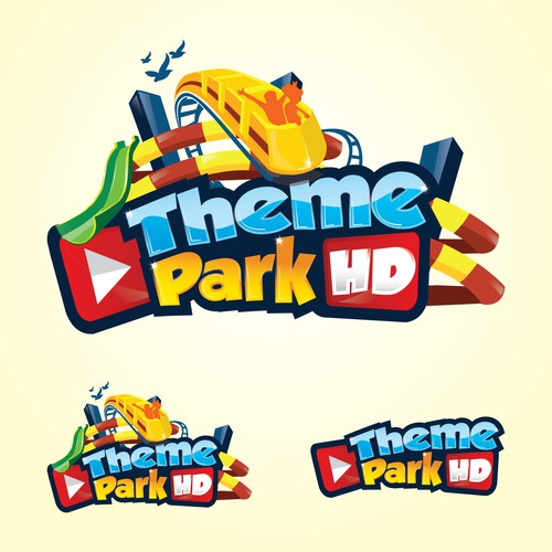 playfull logo concept for theme park