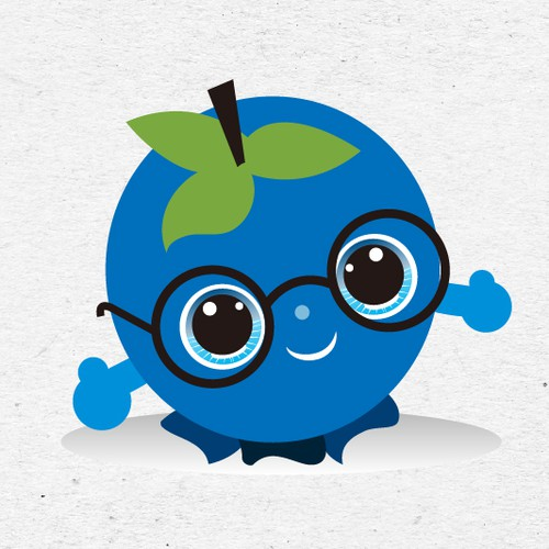 cute blueberry cartoon character