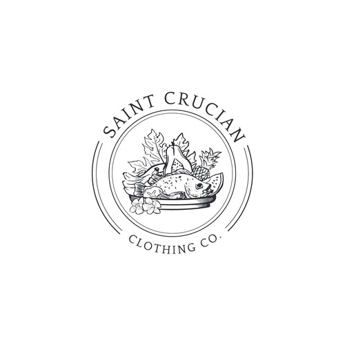 Vintage Minimalist Logo for Saint Crucian Cloting Co.