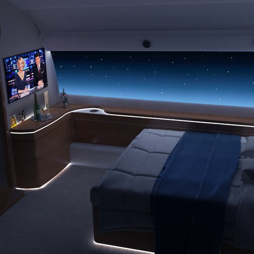 Bedroom design for private airplane