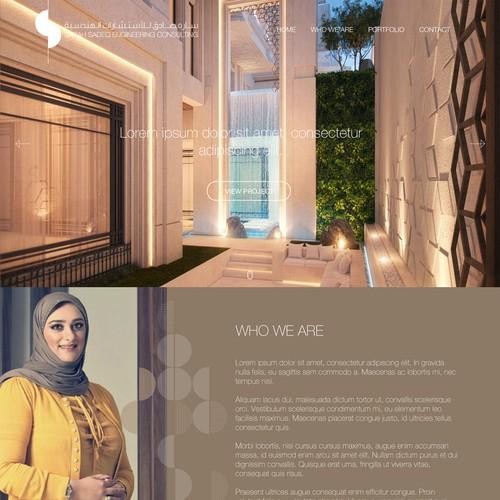 Web design for architectural design office