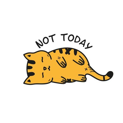 Lazy cat illustration