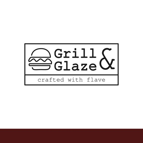 Line-art clean logo for restaurant