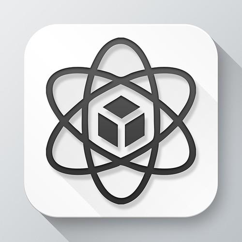 Create an app icon featuring atom symbol