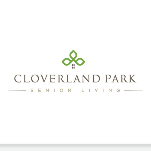 Elegant Logo For Cloverland Park Senior Living