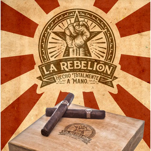 La Rebellion hot stamp design for cigar box.