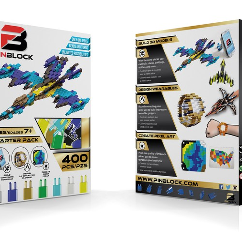 Compete with Lego, Design a Package for Pinblock (Top Ranked new Construction Toy)