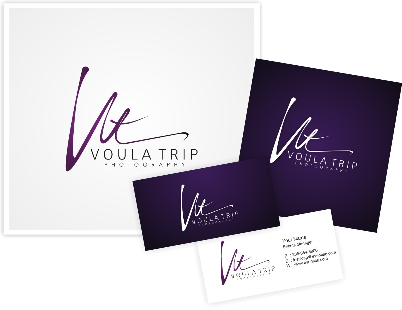 Create the next logo for Voula Trip Photography