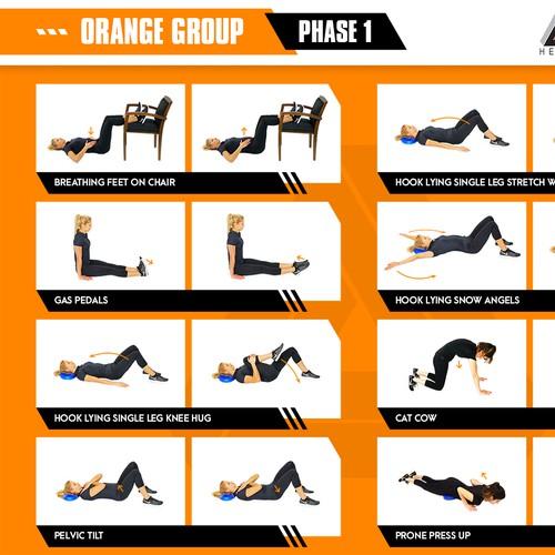Design for exercise flip chart