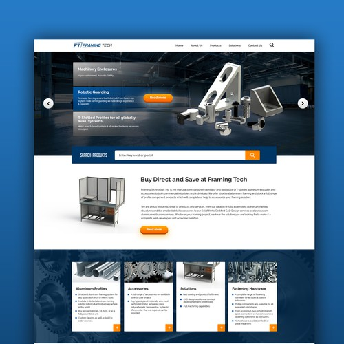 Redesign for Aluminum T-Slotted Framing Products Company