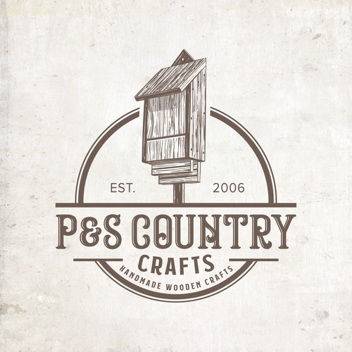 P&S Country Crafts Logo Design.