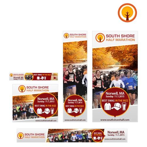 Banner ads for South Shore Half Marathon