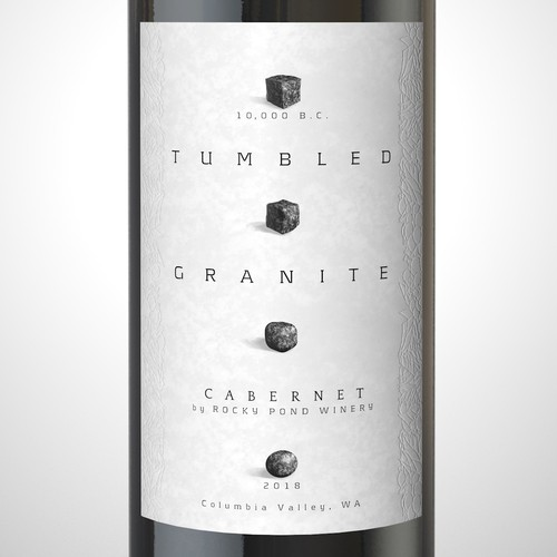 "Wine Label ""Tumbled Granite"" cabernet."