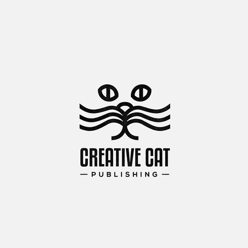 Cat + Book logo for a children's books publisher