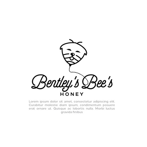 Unique, Fun, Playful logo design for Bentley's Bee's