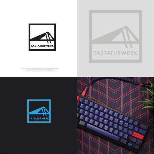 Tastaturwerk. Mechanical keyboard logo design