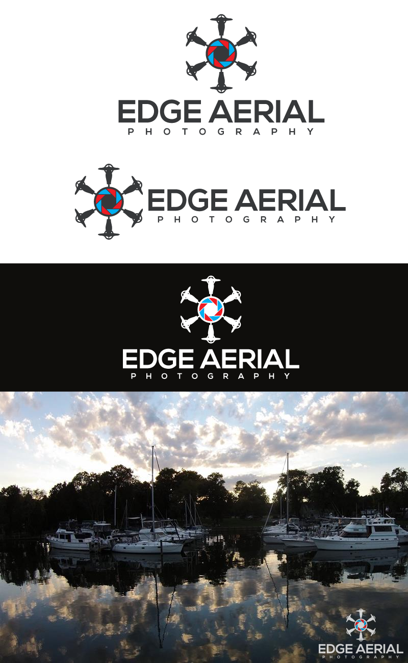 Design a emblem portraying drone photography in Annapolis, MD for Edge Aerial Photography.