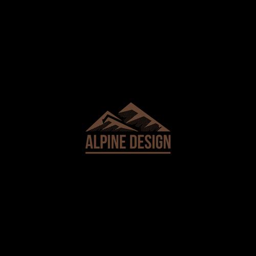 """Créer un logo pour une agence d'architecture """" Alpine Design """""""