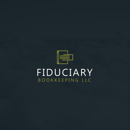 Simple logo concept for Fiduciary bookkeeping LLC.