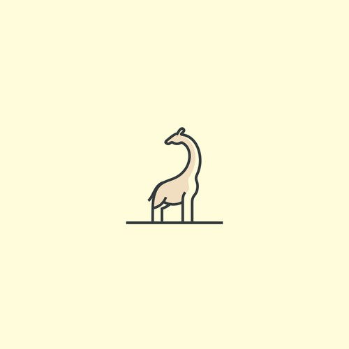 Unique Logo to Save the Giraffes in Africa