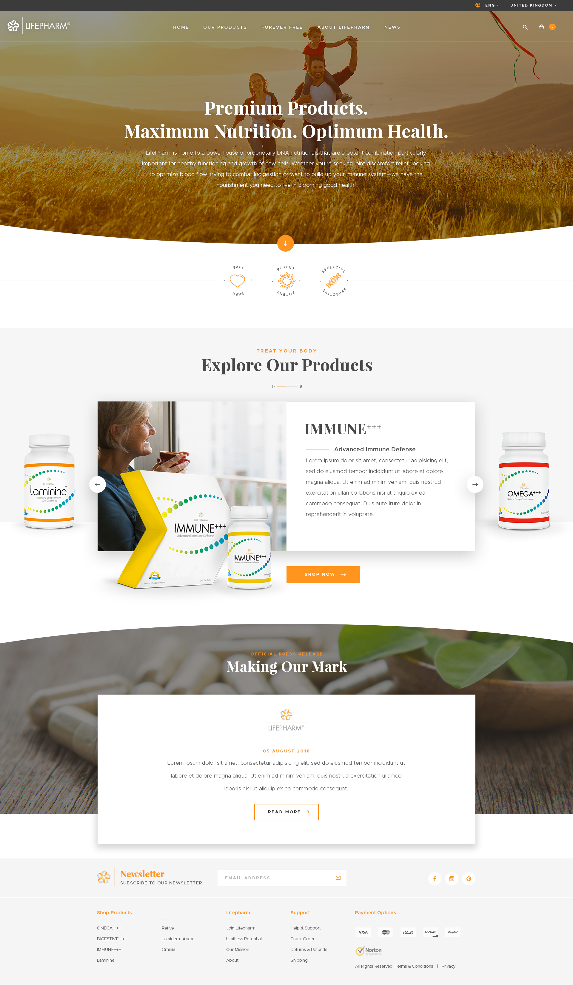 Designing the Remaining Pages for Lifepharm.com